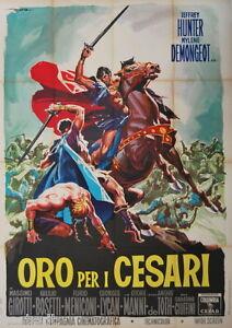 manifesto 4F film ORO PER I CESARI Jeffrey Hunter Massimo Girotti 1963
