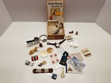 New listing Vintage & New Junk Drawer Lot Cigar Box Magnets Watches Keys Buttons +More 10-A