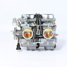 Double Twin Carby Carburetor 250cc 300cc Farm Quad Dirt Bike ATV Dune Buggy