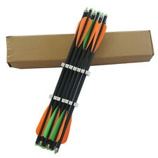 12PK Archery crossbow arrows 8.8mm 20 inch mixed carbon fiber crossbow bolts