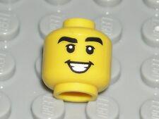 LEGO Yellow Head Black Thick Eyebrows Teeth Grin Serenader Minifigure 71013