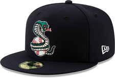 KISSIMMEE COBRAS MILB NEW ERA 59FIFTY NAVY BLUE FITTED RETRO CLASSIC HAT/CAP NWT