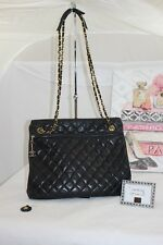 Authentic Vintage Chanel Lambskin Quilted Shoulder Bag