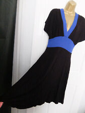 DOROTHY PERKINS ● size 14 ● black blue stretchy dress womens ladies