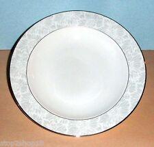 """Wedgwood Vera Wang Chantilly Lace Gray Rim Soup Bowl 9"""" NEW"""