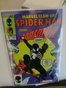 Marvel Team Up Spider-man and Daredevil  #141 May 1984 1st Blacksuit cents copy