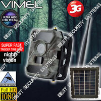 Hunting Camera 3G Security Solar Panel Trail Home GSM Remote Monitoring Scout