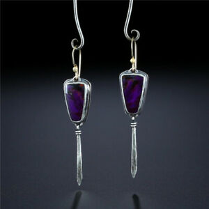 Vintage 925 Silver Drop Earrings For Women Wedding Eardrop Jewelry A Pair/Set