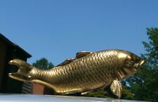 Vintage Brass Koi Fish Figural statue Costal  art Deco From Kore