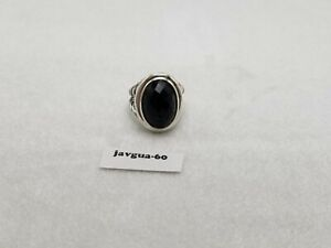 David Yurman 13mm x 18mm Oval Ring Black Onyx Size 8