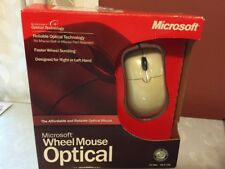 Microsoft Wheel Mouse Optical USB PS/2 2-Button Scroll X10-48807 D66-00069 NEW