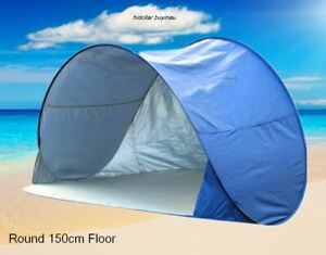 INSTANT SELF POP UP PICNIC DOME TENT BEACH POPUP TENT SUN SHADE SILVER COAT
