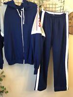 Vintage Sears Put On Shop Blue Jogging Track Suit Pants Jacket Teen Male Size M