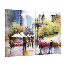 Large Watercolor Street Canvas Wall Art Print Painting Picture Unframed Poster