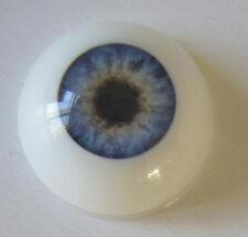 Eyes 22 mm Half Round Acrylic Blue for Reborn Baby