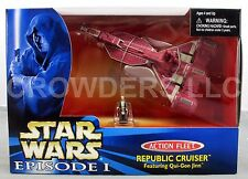 Star Wars Episode 1 Action Fleet Republic Cruiser w/ Qui Gon Jinn Galoob '98 NIB