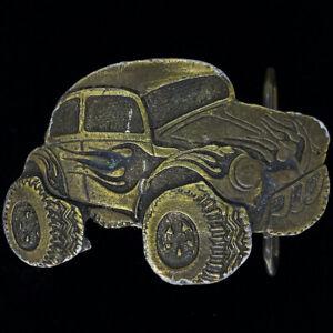 Modified Volkswagen Beetle Bug Roadster Street Rod Racing Vintage Belt Buckle