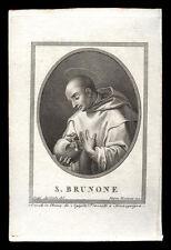 santino incisione1800 S.BRUNO DI COLONIA