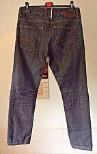 "Next ~ slim fit blue/black denim button fly jeans ~ 34"" W x 30"" L"
