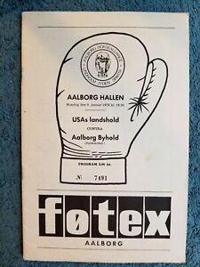 1978 ORIGINAL DAVEY MOORE VS MICHAEL SORENSEN USA VS DENMARK BOXING PROGRAM