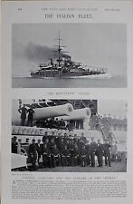 1897 BOER WAR ITALIAN NAVY ADMIRAL CANEVARO & OFFICERS OF THE ITALIA - SICILIA