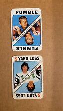 "John ""Johnny"" Unitas Baltimore Colts /Joe Namath NY Jets 1971 Topps Game Lot"