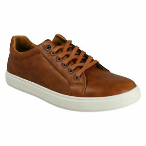 A2R177 MENS REFLEX LACE UP CASUAL SUMMER TAN TRAINERS SHOES SIZE