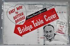 NOS Vtg 1950s CHAS GOREN Official Bridge Table Cover SEALED Mid-Century Package!
