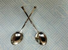 More details for 2 vintage sterling/s arts & crafts coffee spoons by london mkr omar ramsden 1930
