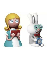 Alessi Hand Decorated Alice and The White Rabbit Figurines in