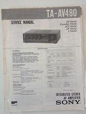 Schema SONY - Service Manual Integrated Stereo AV Amplifier TA-AV480 TAAV480