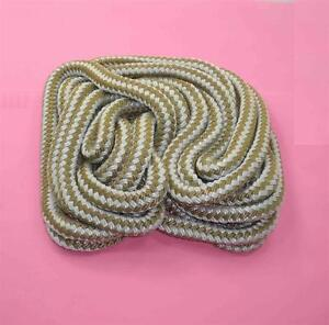 Marine Grade Double Braid Nylon Rope 3/8 x 50 ft Gold for Dock Anchor Line 22992