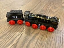 Thomas The Train Wooden Railway HIRO and tender wood black engine 51