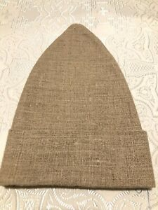 Linen Skufia clergy calotte Natural Linen medium weight size 57 SHIPS FROM USA