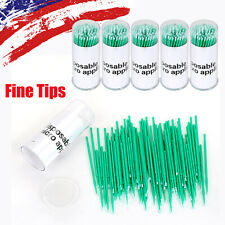 100 500pcs Micro Applicator Dental Tooth Eyelash Brushes Disposable Fine Tips