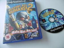 DESTROY ALL HUMANS! 2 ORIGINAL PLAYSTATION PS2 GAME PAL