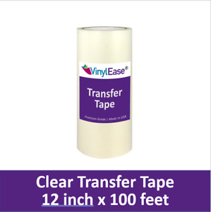 12 in X 100 ft Roll Clear HIGH TACK Transfer Tape for Sign Craft Vinyl V0805