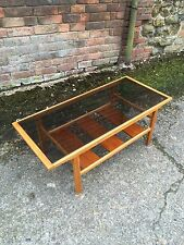 Gorgeous Vintage Retro Myer's GlassTopped Coffee Table skandi
