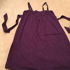 Warehouse Purple Cotton Camisole - Size 10