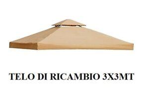 Top Telo copertura per gazebo di ricambio 3x3 mt con Airvent ECRU 220 gr