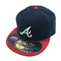New Era 59Fifty Mens Fitted Hat Atlanta Braves Size 7 3/8 Cap Baseball Mlb
