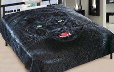 Tagesdecke 3 D Panther Bettüberwurf Bettdecke Steppdecke Decke Wohndecke