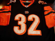 Rudi Johnson Cincinnati Bengals #32 Authentic Reebok NFL Football Jersey (Black)