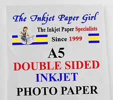 A5 240g Double Sided Gloss/Matte Photo Paper  60 Sheets