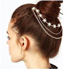 Peine del pelo Cadena vinculado Perla con borlas de cristal de aleación de accesorios de joyería nupcial-Uk