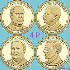2013-P McKINLEY ROOSEVELT TAFT WILSON PRESIDENTIAL GOLDEN DOLLARS SET FOUR PCS