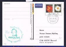 56012) easy Jet FF Dresden - Basel Schweiz 3.12.2010, Pluskarte  Schumann Musik