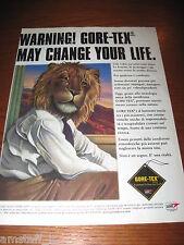 *AH10=GORE-TEX=PUBBLICITA'=ADVERTISING=WERBUNG=COUPURE=