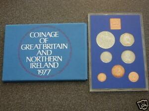 1977 UK DECIMAL ROYAL MINT BU UNC SET 7 COIN COLLECTION