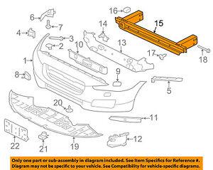 JAGUAR OEM F-Pace Front Bumper Grille-Impact Reinforcement Bar Rebar T2H36115